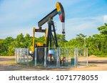oil well blue sky | Shutterstock . vector #1071778055