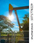 oil well blue sky | Shutterstock . vector #1071778229