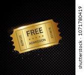 vector golden tickets and... | Shutterstock .eps vector #1071780419