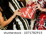 colorful well dressed and... | Shutterstock . vector #1071782915