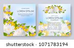 floral vector card set with... | Shutterstock .eps vector #1071783194