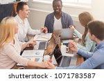teambuilding workshop with... | Shutterstock . vector #1071783587