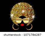portrait african women   dark... | Shutterstock .eps vector #1071786287