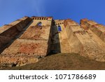 the slimnic fortress on the... | Shutterstock . vector #1071786689