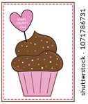 happy mothers day cupcake | Shutterstock .eps vector #1071786731