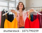 attractive stylish smiling...   Shutterstock . vector #1071790259
