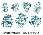 big set for happy mothers day... | Shutterstock .eps vector #1071791015