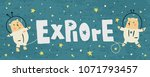 vector banner with cute bears... | Shutterstock .eps vector #1071793457