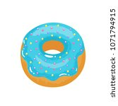 delicious appetizing donut with ... | Shutterstock .eps vector #1071794915
