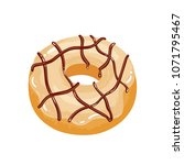delicious appetizing donut with ... | Shutterstock .eps vector #1071795467