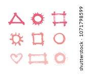 hand drawn design elements... | Shutterstock .eps vector #1071798599