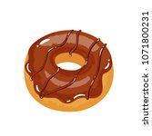 delicious appetizing donut with ... | Shutterstock .eps vector #1071800231