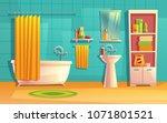 vector bathroom interior  room... | Shutterstock .eps vector #1071801521
