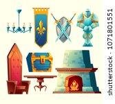 vector set of fantasy items ... | Shutterstock .eps vector #1071801551