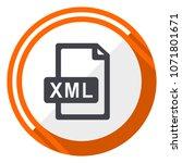 xml file flat design orange... | Shutterstock .eps vector #1071801671