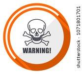 warning skull flat design... | Shutterstock .eps vector #1071801701