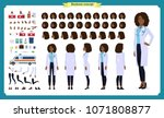 black female doctor character... | Shutterstock .eps vector #1071808877