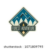 modern shield forest camp badge.... | Shutterstock .eps vector #1071809795