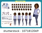 young black woman  casual... | Shutterstock .eps vector #1071812069