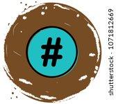 hashtag sign icon vector...   Shutterstock .eps vector #1071812669