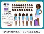 black tourist female  vacation... | Shutterstock .eps vector #1071815267