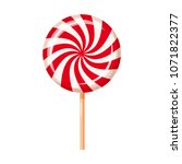 striped peppermint candy ... | Shutterstock .eps vector #1071822377