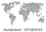 global geography collage map... | Shutterstock . vector #1071824765