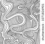 coloring page doodle wave... | Shutterstock . vector #1071826901