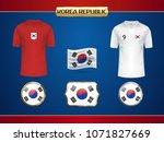 football korea jersey. vector...   Shutterstock .eps vector #1071827669