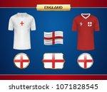 football england jersey. vector ...   Shutterstock .eps vector #1071828545