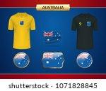 football australia jersey....   Shutterstock .eps vector #1071828845