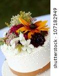 White Wedding Cake With Fresh...
