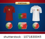 football portugal jersey....   Shutterstock .eps vector #1071830045