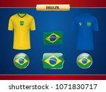 football brasil jersey. vector... | Shutterstock .eps vector #1071830717