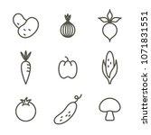 vegetables icon set. vector...   Shutterstock .eps vector #1071831551
