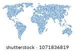 global world pattern map made... | Shutterstock . vector #1071836819