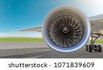 aircraft jet engine close up ... | Shutterstock . vector #1071839609
