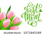 happy mothers day greeting card ... | Shutterstock .eps vector #1071845189