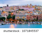 cityscape with marina in the... | Shutterstock . vector #1071845537