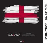 flag of england with grunge... | Shutterstock .eps vector #1071846041