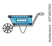 doodle handcart transport... | Shutterstock .eps vector #1071851501