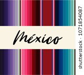 colorful mexican traditional... | Shutterstock .eps vector #1071854087