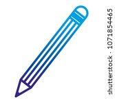 degraded line pencil school... | Shutterstock .eps vector #1071854465