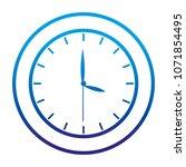 degraded line circle clock... | Shutterstock .eps vector #1071854495