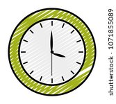doodle circle clock object to... | Shutterstock .eps vector #1071855089