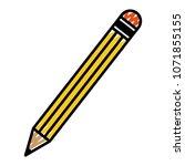 doodle pencil school object to... | Shutterstock .eps vector #1071855155