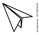 line paper airplane fly origami ... | Shutterstock .eps vector #1071856169