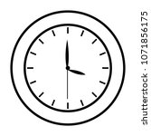 line circle clock object to... | Shutterstock .eps vector #1071856175