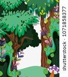 beautiful forest scenery   Shutterstock .eps vector #1071858377