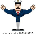 a cartoon boat captain looking... | Shutterstock .eps vector #1071863795
